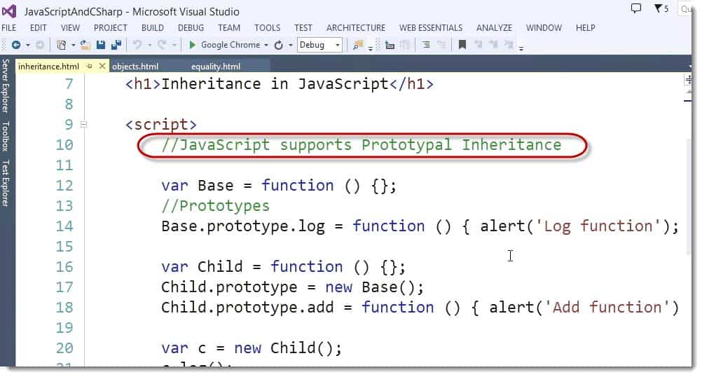 JavaScript Supports Prototypal Inheritance - Learn JavaScript for C# Developers