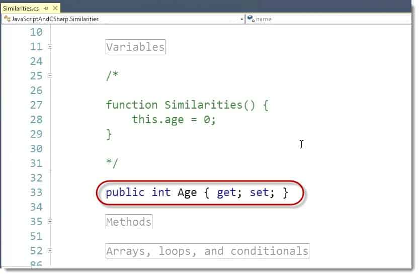 Variables GetSet Microsoft Visual Studio Learning JavaScript for C# Developers Webinar