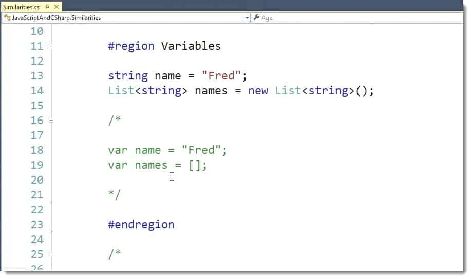 Simple Variable Syntax Learning JavaScript for C# Developers Webinar