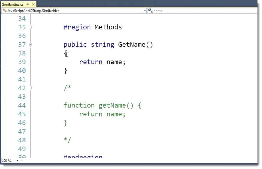 Methods Syntax Microsoft Visual Studio Learning JavaScript for C# Developers Webinar
