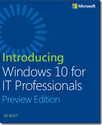 Microsoft Windows 10 Preview - eBook for IT Proffesionales