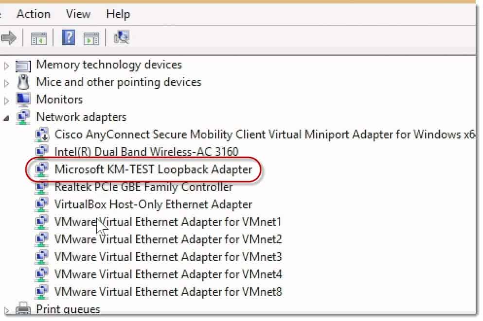 Microsoft KM Loopback Connect GNS3 to a Valid External Host Win8