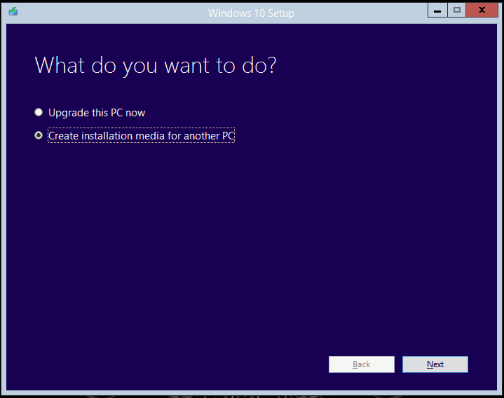 How to create Windows 10 Alternate Upgrade Media