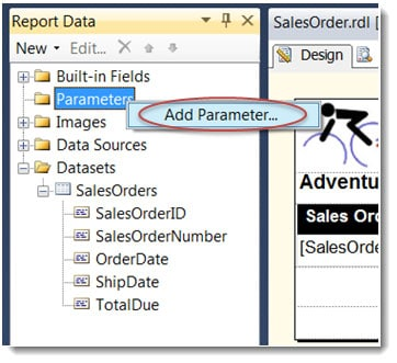 Add a Parameter in SSRS SQL Server Reporting Services