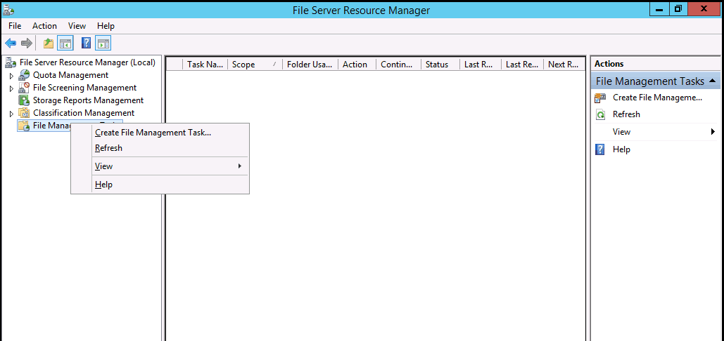 002-Actions-Panel-File-Server-Resource-Manager