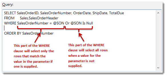 Adding a WHERE Claues in in SSRS SQL Server Reporting Services