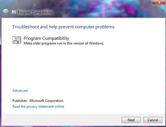 002-Windows-Program-Compatibility-Troubleshooter
