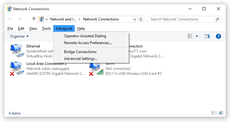 004-advanced-Network-Connections-interface-Windows-10