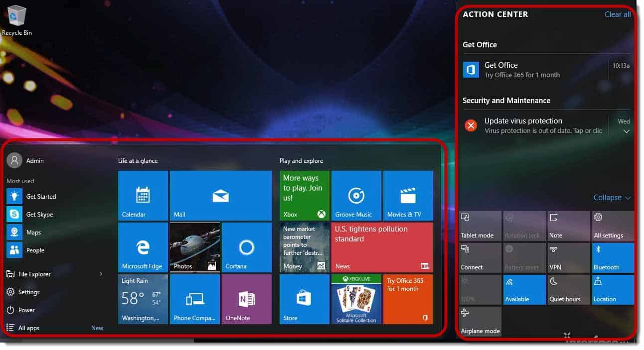 Video Windows 10 Basic Desktop And Navigation