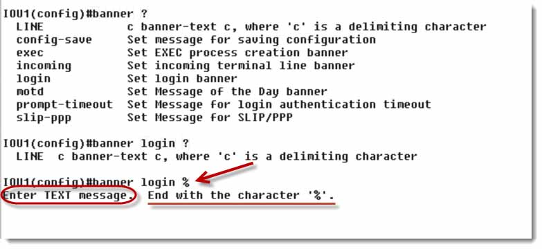 How To Create A Cisco Ios Banner Login And Motd Message