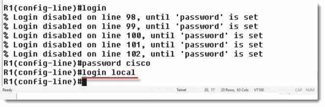 Login Local Cisco IOS