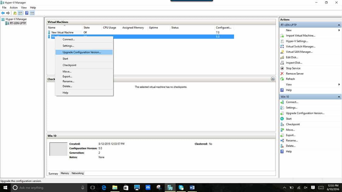 machine windows server