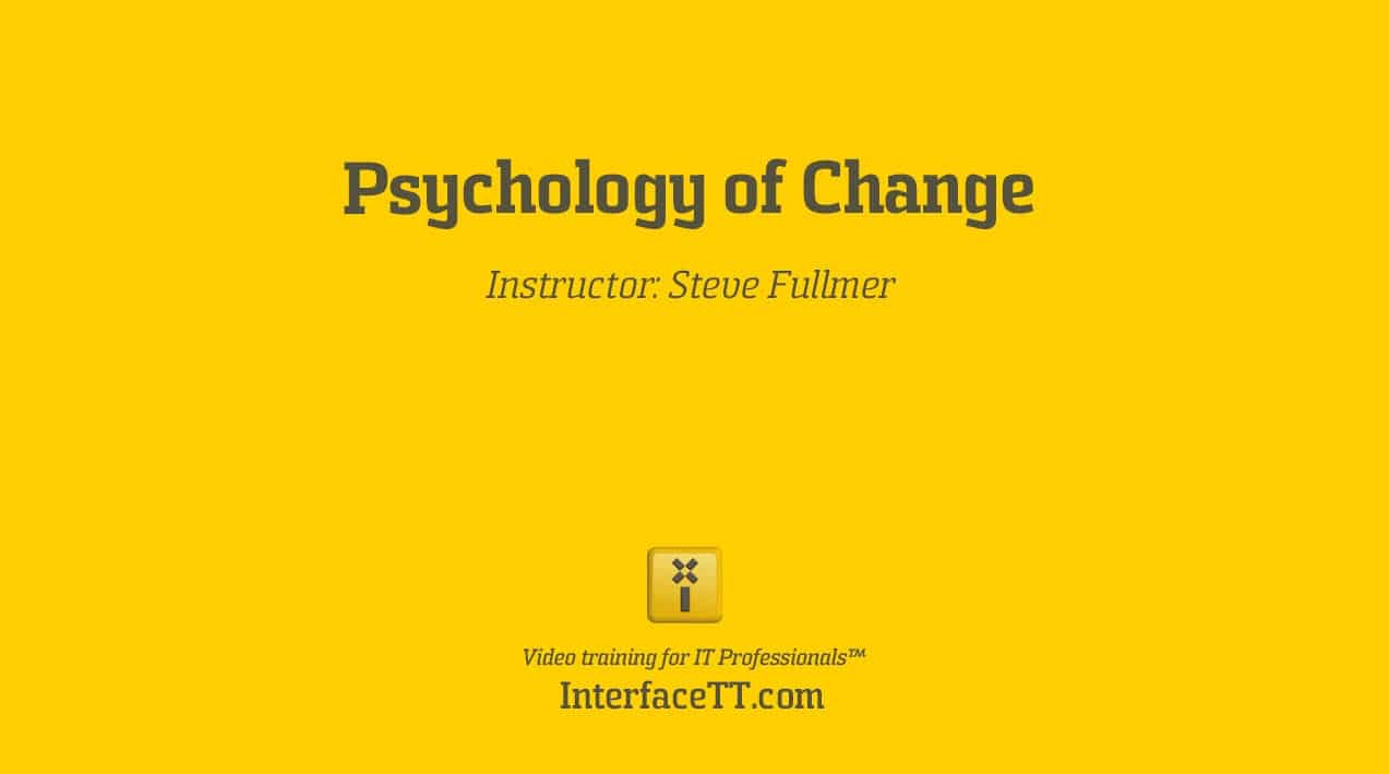 Psychology of Change - Project Management (PMP) for Executives video image