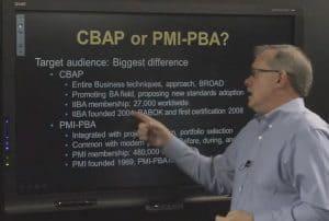 PMI-PBA Business Analysis or IIBA CBAP Certification video image
