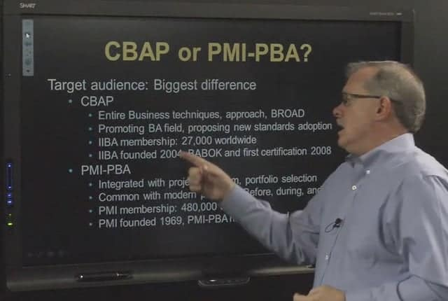 PMI-PBA Business Analysis or IIBA CBAP Certification video image
