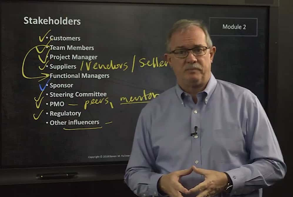 Identifying Stakeholders in Project Management PMP Certification video image