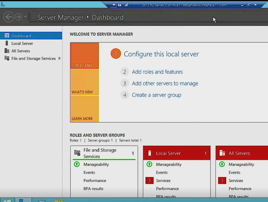 Rick Trader - Windows Server Instructor - Interface